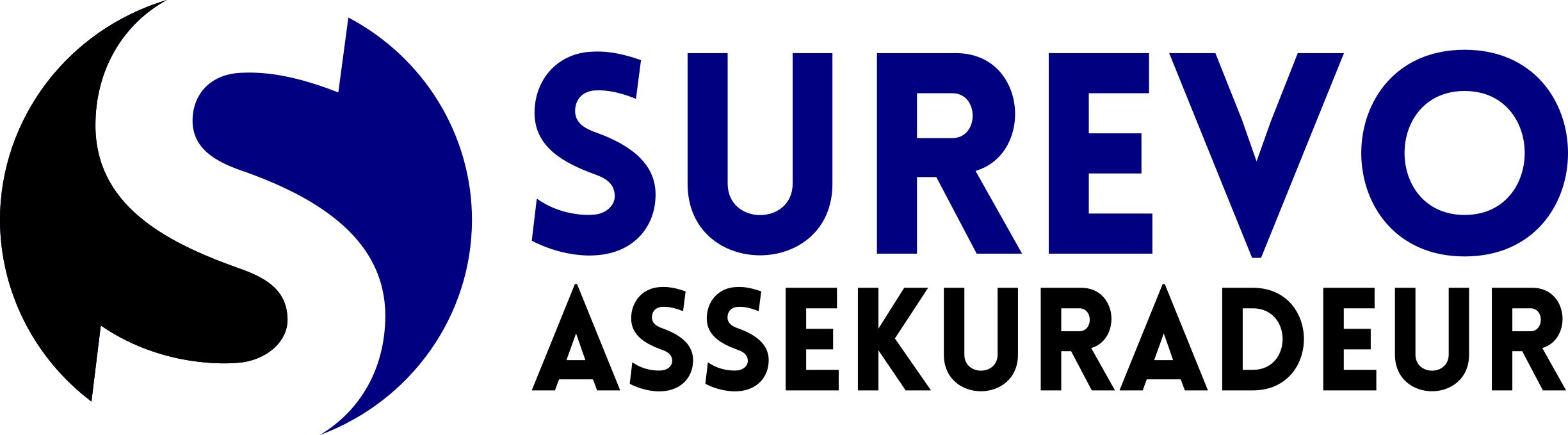Logo SUREVO S blauschwarz Assek